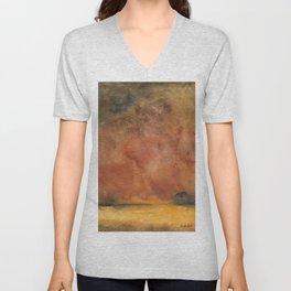 Abstract Autumn Landscape Unisex V-Neck