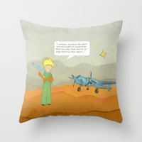 le petit prince Throw Pillows featuring  Le Petit Prince  by Ia Re