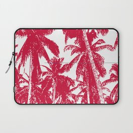 Palm Trees Design in Red and White Laptop Sleeve