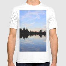 Salmon Lake Mens Fitted Tee White MEDIUM