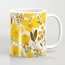 Yellow roaming wildflowers Coffee Mug