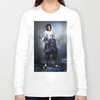 sasuke Long Sleeve T-shirts featuring Sasuke real style portrait by Shibuz4
