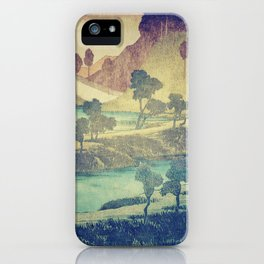A Valley in the Evening iPhone Case