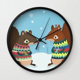 Squirrel Friends Wall Clock