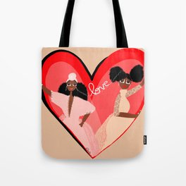 Connected by love Tote Bag