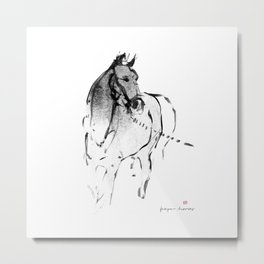Horse (Lunging) Metal Print