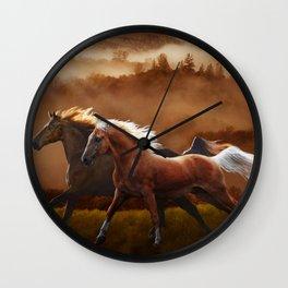 A Race at Sunset Wall Clock