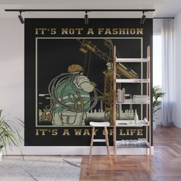 Tower Crane A Way Of Life Wall Mural