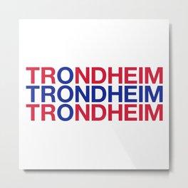 TRONDHEIM Norwegian Flag Metal Print