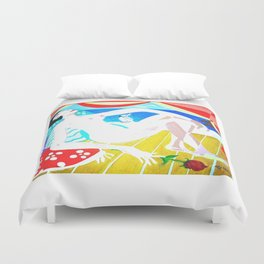 NUDE and Cockatoo           by Kay Lipton Duvet Cover