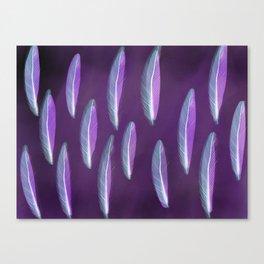 Purple Feather Canvas Print
