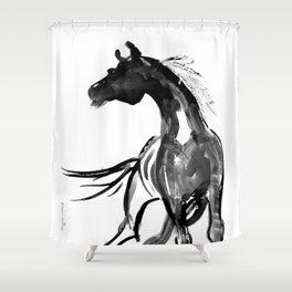 Horse (Ink sketch) Shower Curtain