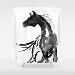 Horse (Ink sketch) Shower Curtain