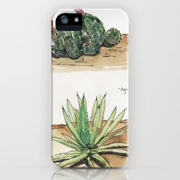 Claret Cup Cactus and Agave iPhone Case