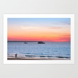 Sunset at the Beach in Darwin, Australia Art Print