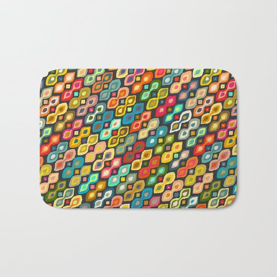 Varsha ikat pop Bath Mat