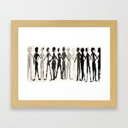 hand in hand  Framed Art Print