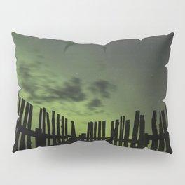 Aurora through the fence Pillow Sham