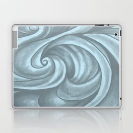 Swirl (Gray Blue) Laptop & iPad Skin