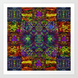 The symmetry of being Art Print