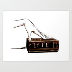 Life on snooz Art Print
