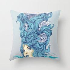 Ocean Queen Throw Pillow