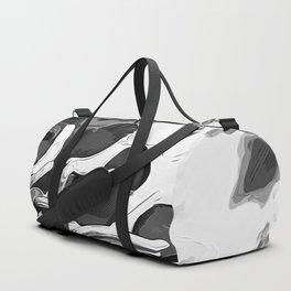 colorful anemonefish clownfish vector art black white Duffle Bag