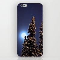 finland iPhone & iPod Skins featuring Moonlight in Lapland, Finland by Guna Andersone & Mario Raats - G&M Studi