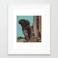 yoshi Framed Art Prints featuring Yoshi by David Delruelle