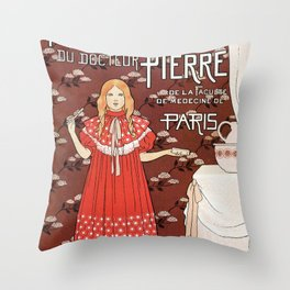Dentifrice French belle epoque toothpaste ad Throw Pillow
