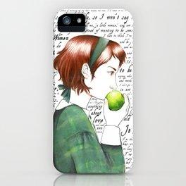 Jo March - Little Women iPhone Case