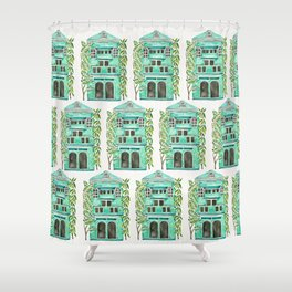 The Grotto – Mint Palette Shower Curtain