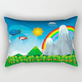 Child fantasy landscape Rectangular Pillow