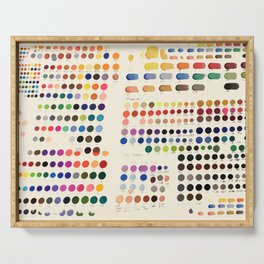 Artist Color Swatches - watercolor, prisma, paints Serving Tray