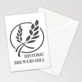 Brewers Hill Sign Black Stationery Cards