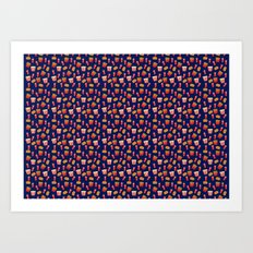 Fast food party Art Print