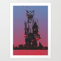 hotline miami Art Prints featuring HOTLINE MIAMI by Bertrand Nadal
