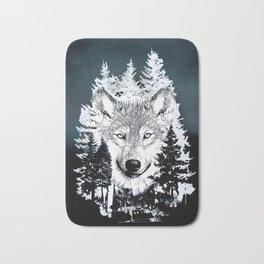 Forest Wolf Art Bath Mat