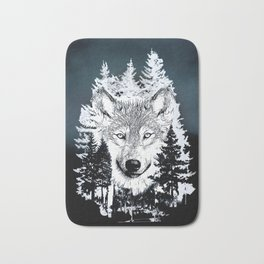 Forest Wolf Art Bath Mat
