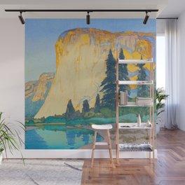 El Capitan Hiroshi Yoshida Modern Japanese Woodblock Print Wall Mural