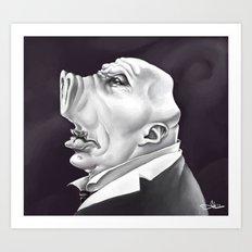 Mr. Pig Art Print