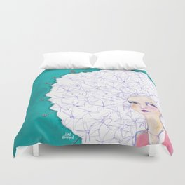 Puffball by Jane Davenport Duvet Cover