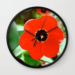 Red Portal Wall Clock