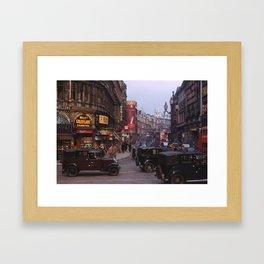 Piccadilly London Kodachrome Framed Art Print