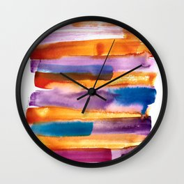 1    190626   Melting In Colours Wall Clock