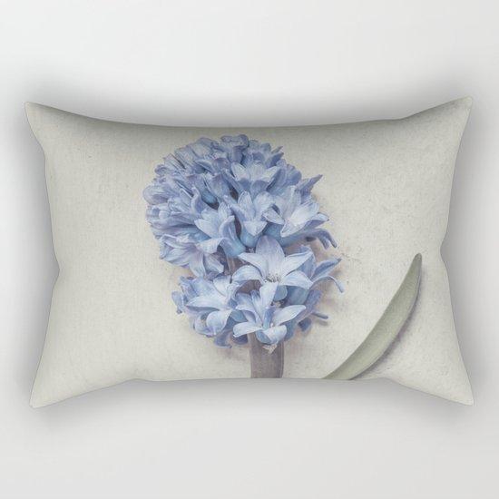 One Light Blue Hyacinth Rectangular Pillow