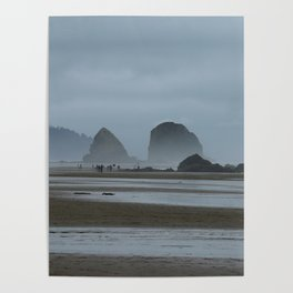 Haystack Rock on Cannon Beach Poster