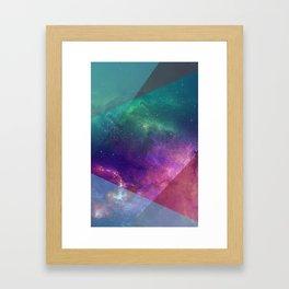Deep Blue Galaxy Framed Art Print