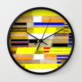 Paul Klee Monument in Fertile Country Wall Clock