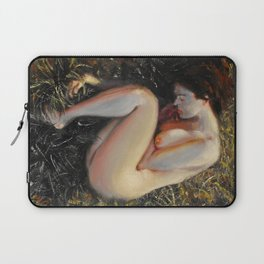 Woman among the grass Laptop Sleeve